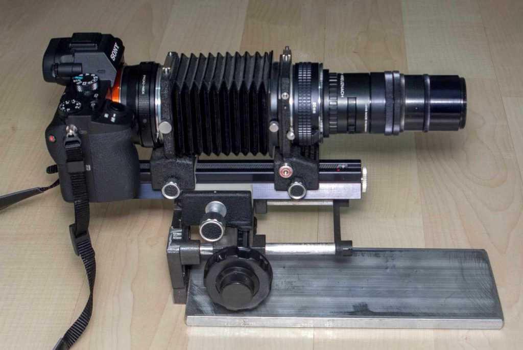 Hassas makro ray gövde ve lens sistemi ile birlikte