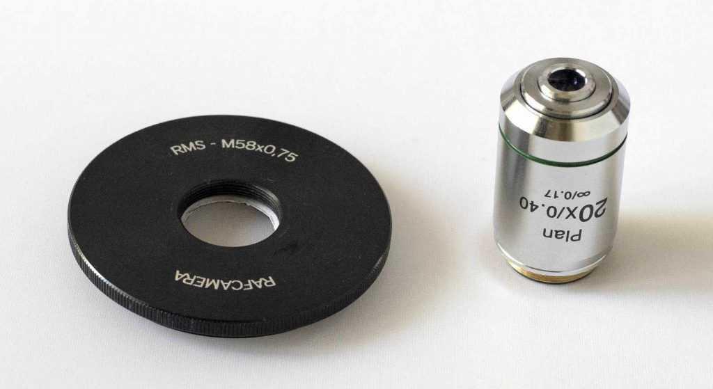 Infinity mikroskop lensi ve adaptörü