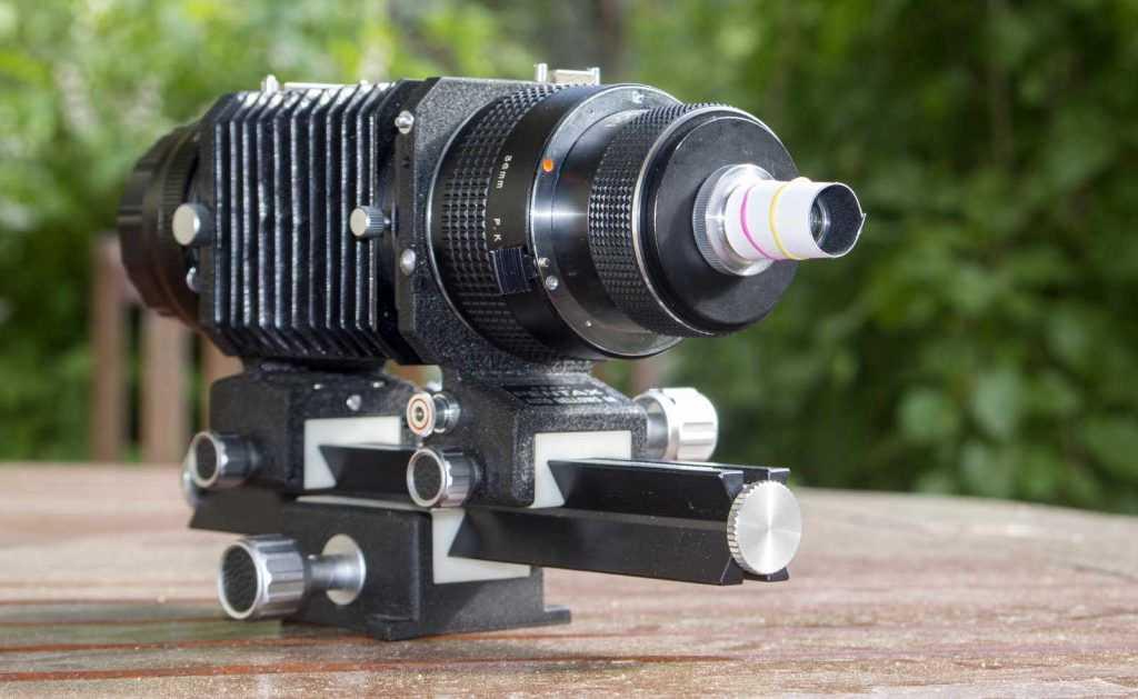 Lomo mikroskop lensi ile el yapımı parasoley kullanımı